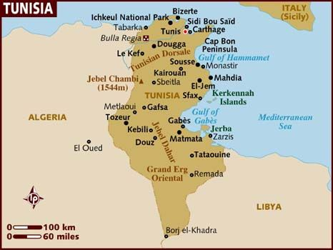 map of Tunisia2007 saw the carthage Map Happy Pinterest