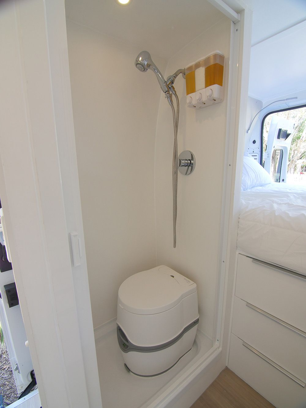 Building A Wet Bath And Shower Into Promaster Diy Camper