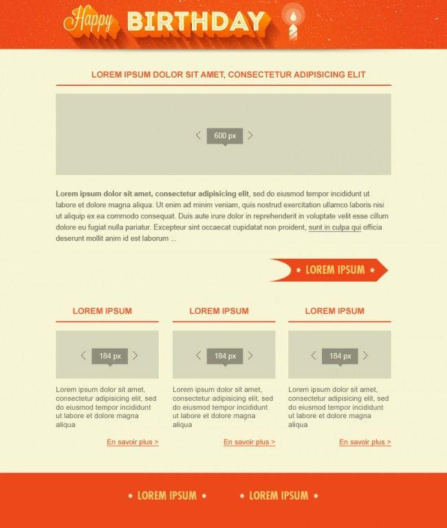 Desea un feliz cumpleaños a tus contactos con esta plantilla HTML ...