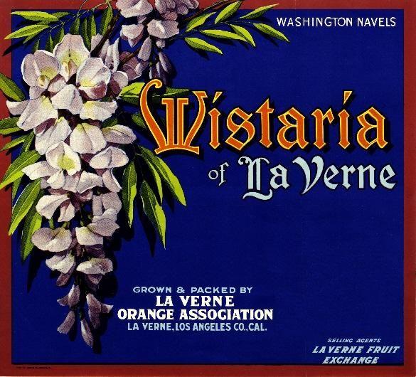 La Verne Lordsburg Fuchsia Flowers Orange Citrus Fruit Crate Label Art Print