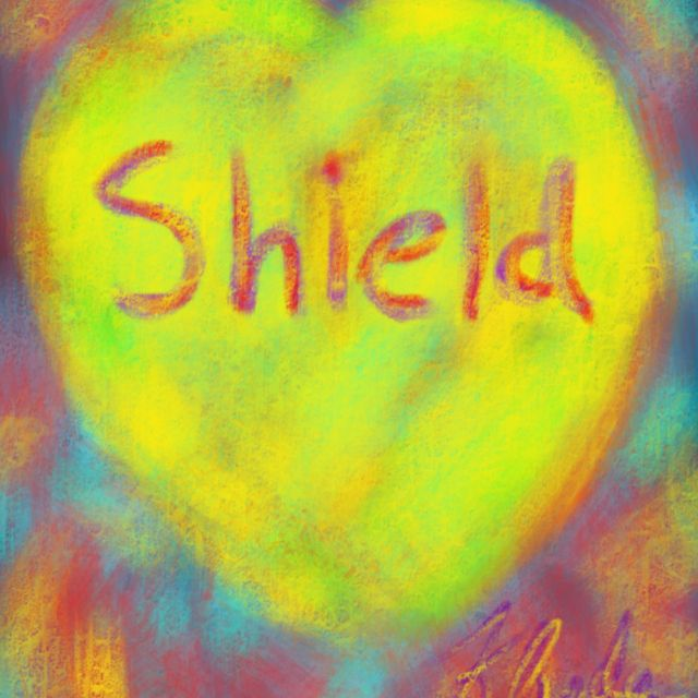 """Today's painting. """"Shield my Heart"""""""