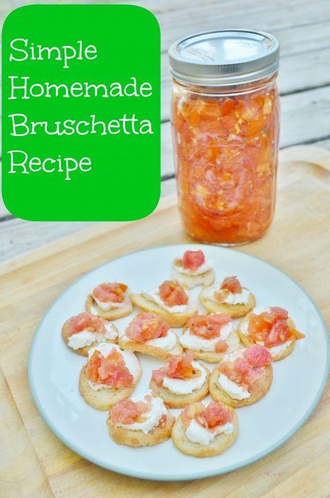 Homemade Fresh Bruschetta Recipe