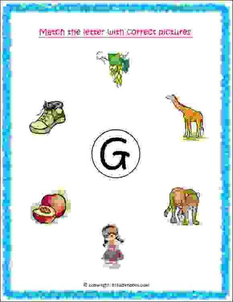 Activity Worksheets For Nursery Kids To Recognize And