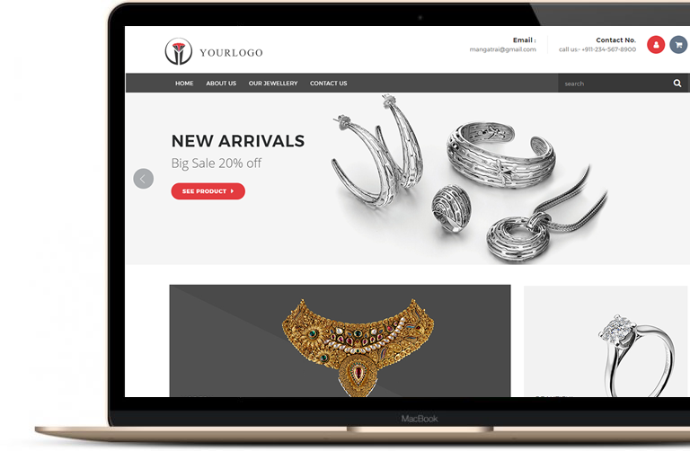creative design idea jewellery website templates inspiration