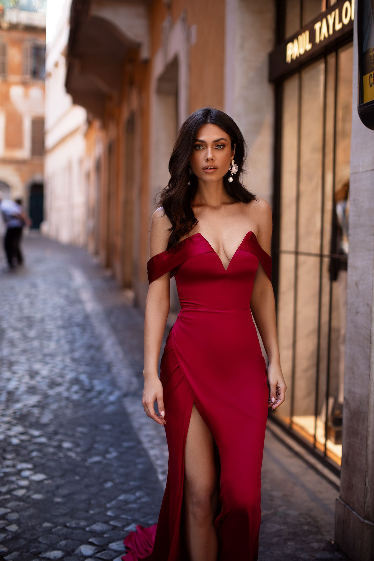 Lorenza Wine Red Red Dress Women Red Wedding Dresses Red Dress [ 2250 x 1500 Pixel ]