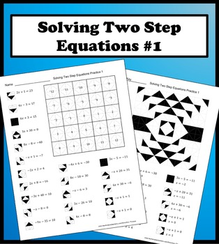 Solving Two Step Equations Color Worksheet Practice 1 21 Well Thought Out Problems That Will Strengthen And Rein Two Step Equations Color Worksheets Equations
