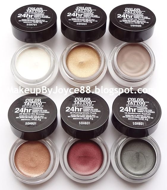 Review Swatches Maybelline Color Tattoo 24hr Cream Gel Eyeshadow Gel Eyeshadow Maybelline Color Tattoo Maybelline Color