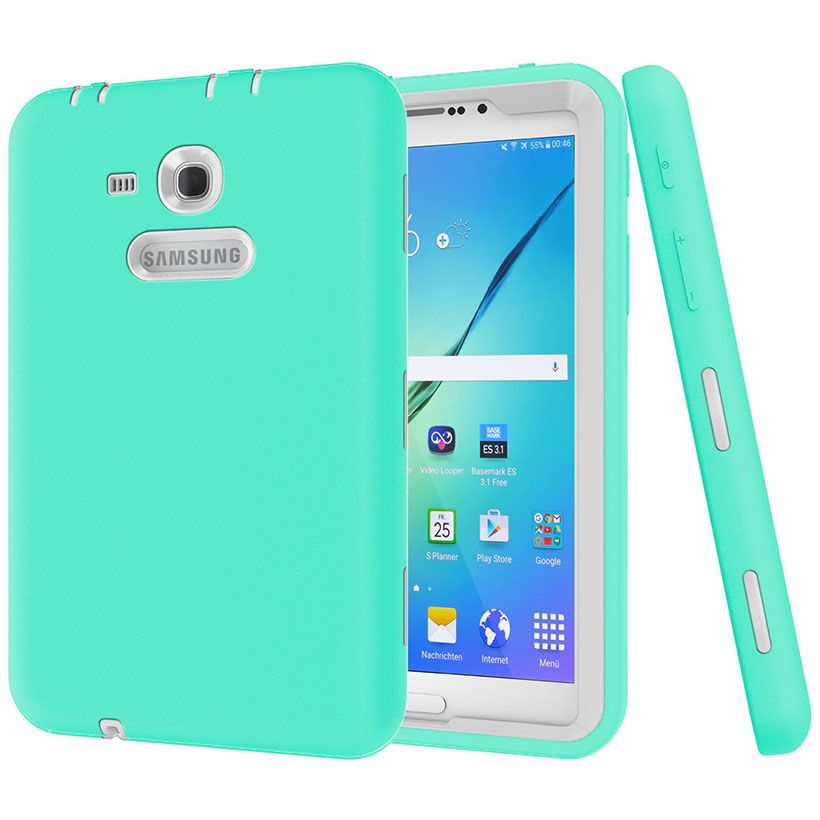 New Cover For Samsung Galaxy Tab 3 Lite 7 0 Case Kids Safe Heavy Duty Shockproof Silicone