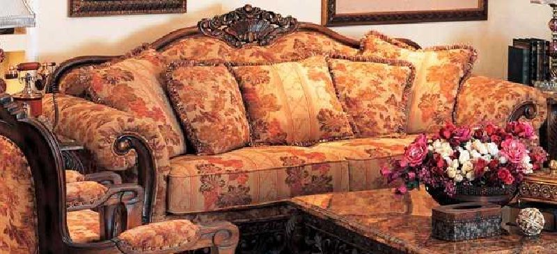Unique Luxury Floral Pattern Sofa Printed Fabric Sofa Living Room Sets Furniture Fabric Sofa