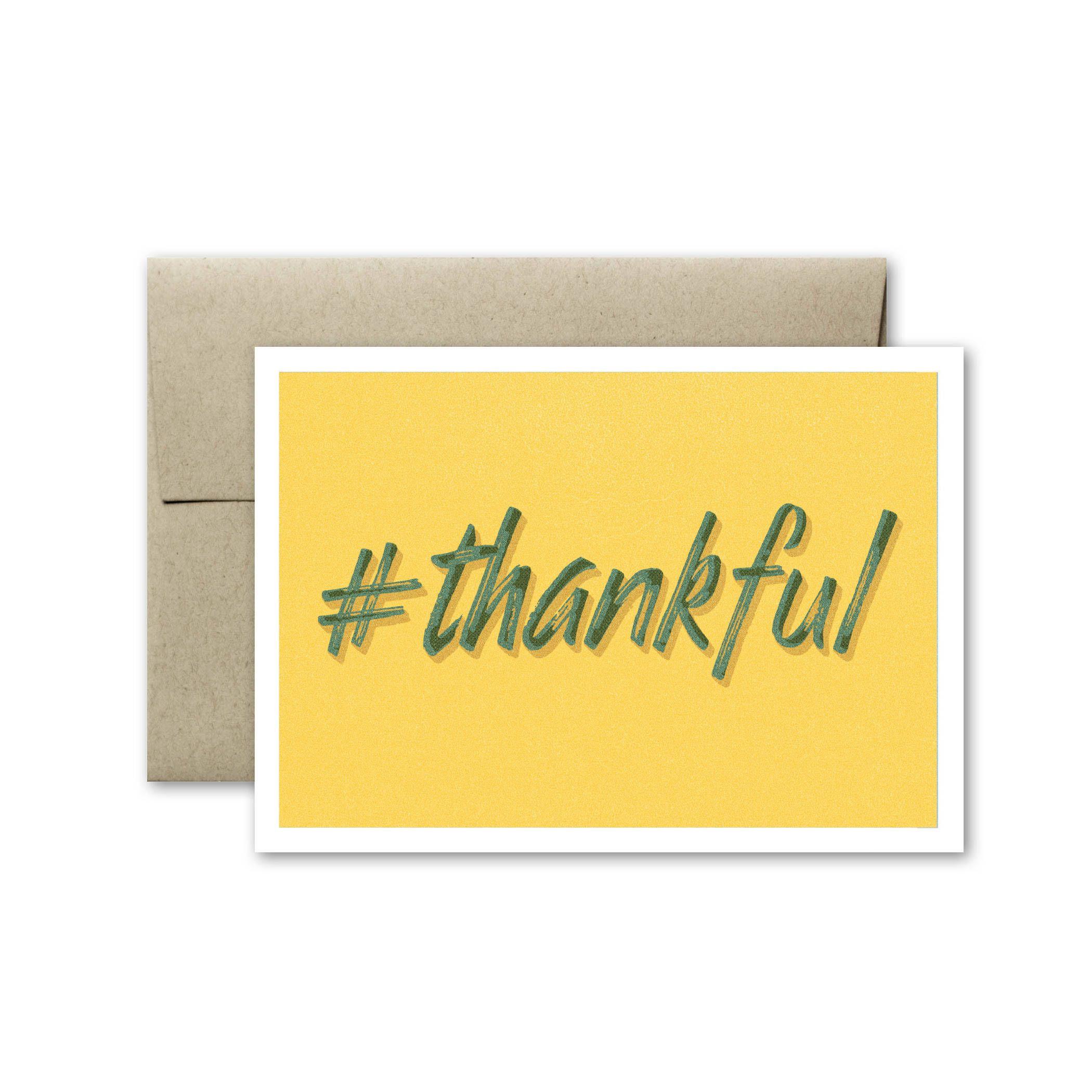 Thankful Card Thank You Card Blank Card Card Thanksgiving Card Greeting Card Wedding Thank You Card Just Because Card