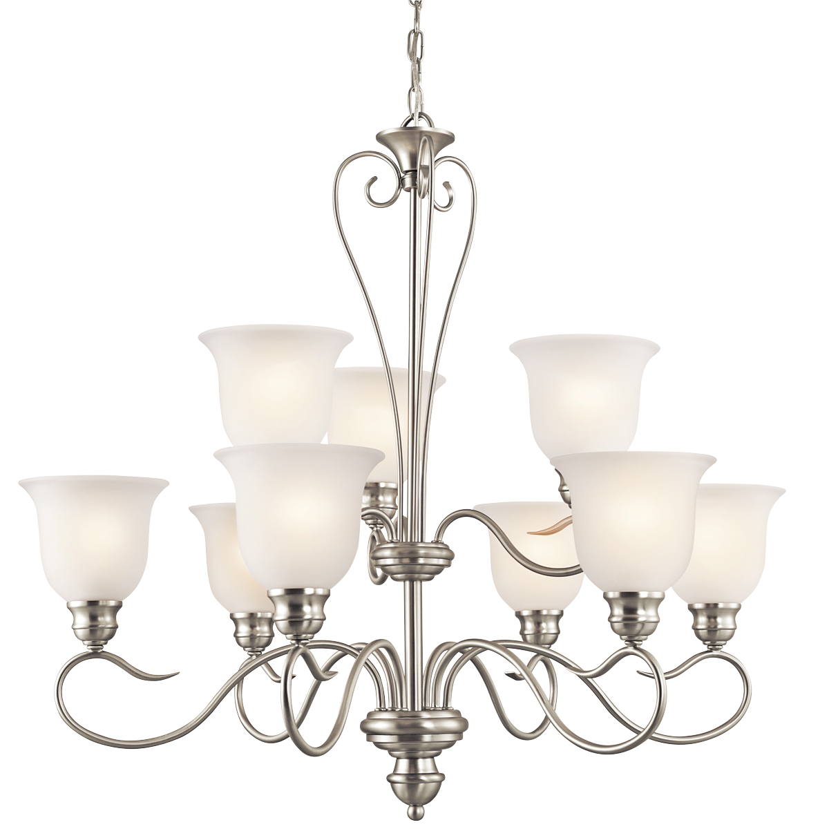 Tanglewood Collection 9 light  Chandelier in Brushed Nickel