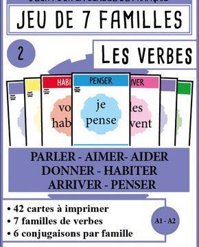 Mondolinguo 7familles Verbes2 Conjugaison Jeu Conjugaison Verbe