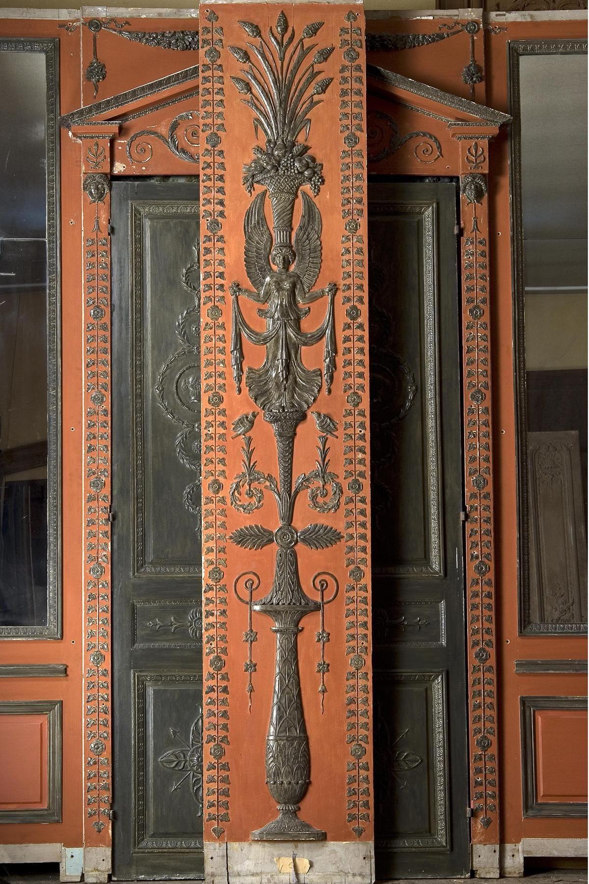 charles percier boiserie empire d cor rouge et noire motifs dit l etrusque percier. Black Bedroom Furniture Sets. Home Design Ideas