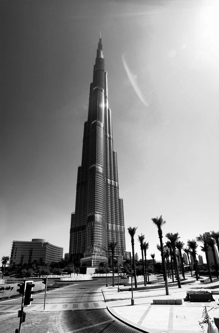 Dubai Black White Burj Khalifa Amazing Buildings White City