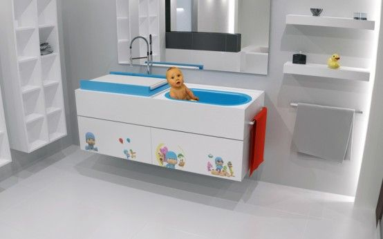 Modern Bathroom Furniture With Baby Washbasin By Herms Banheira
