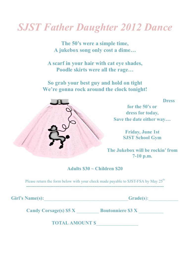 Fatherdaughter dance invitation Sockhop CRAFTY things To DIY