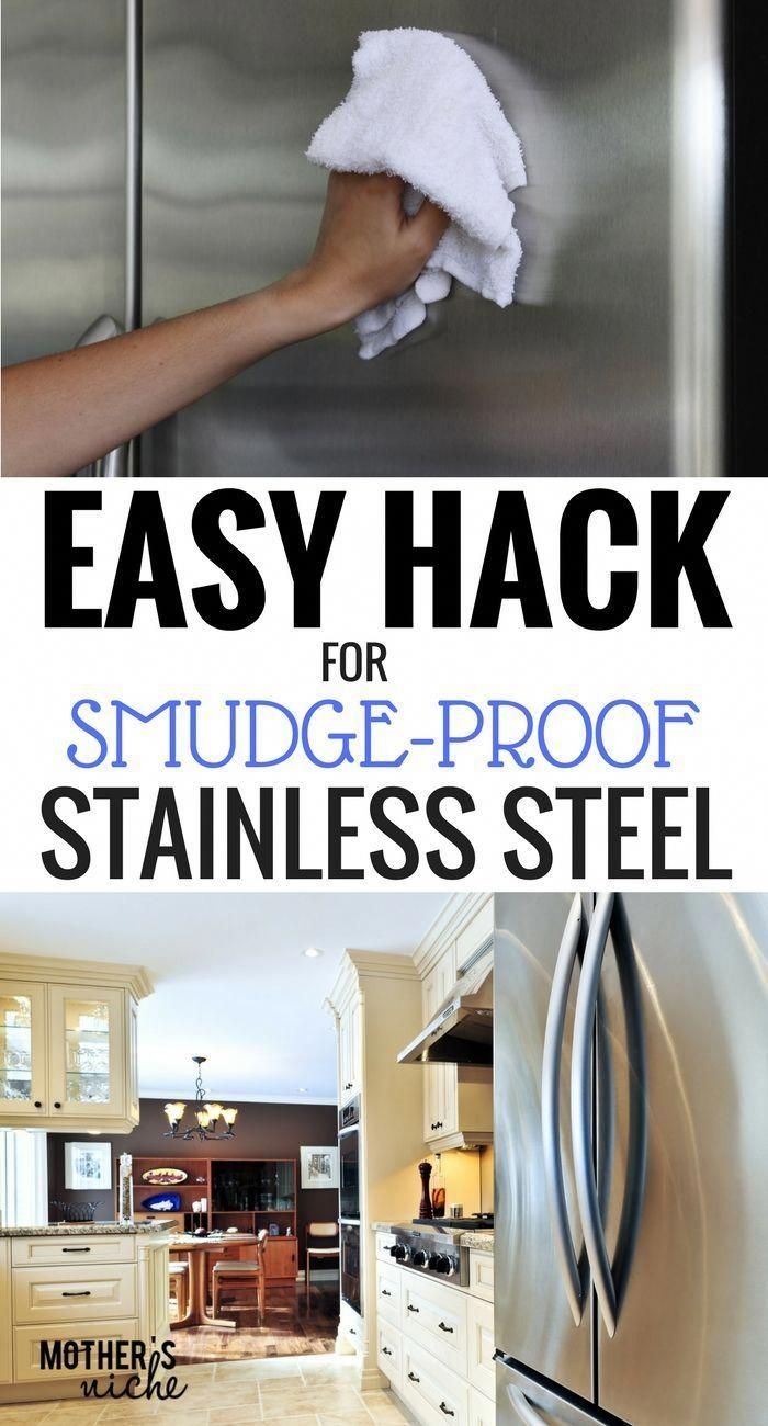 I LOVE not having to clean fingerprints off the fridge everyday. This hack is SO EASY! #kitchenhacks