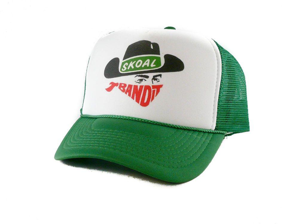 21f19e7ab35 vintage Skoal Bandit chewing tobacco Trucker Hat mesh hat green  Unbranded   TruckerHat