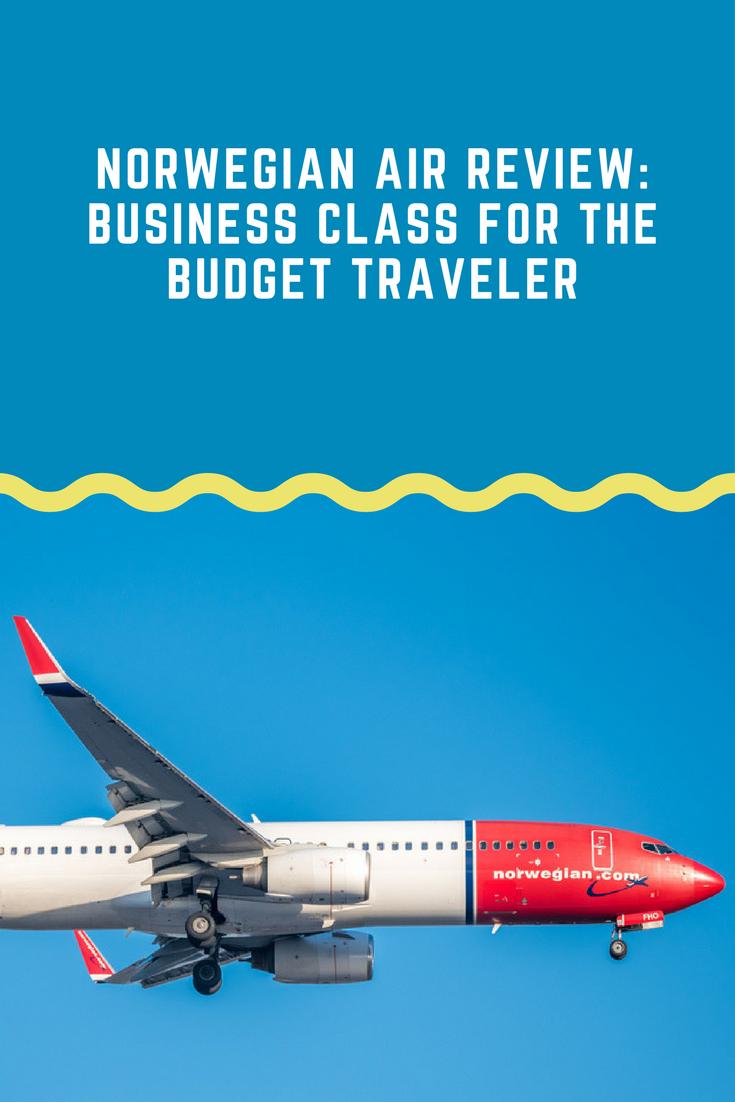 Norwegian Air Business Class for the Budget Traveler