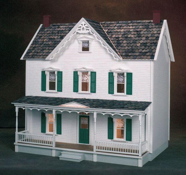 Vermont farmhouse dollhouse kit dollhouses kits for Farmhouse kit homes