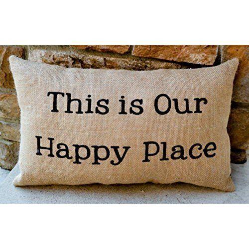 Burlap Lake Home Or Cabin Rustic Throw Pillow Beach Throw Pillows Nautical Throw Pillows Coastal Throw Pillows