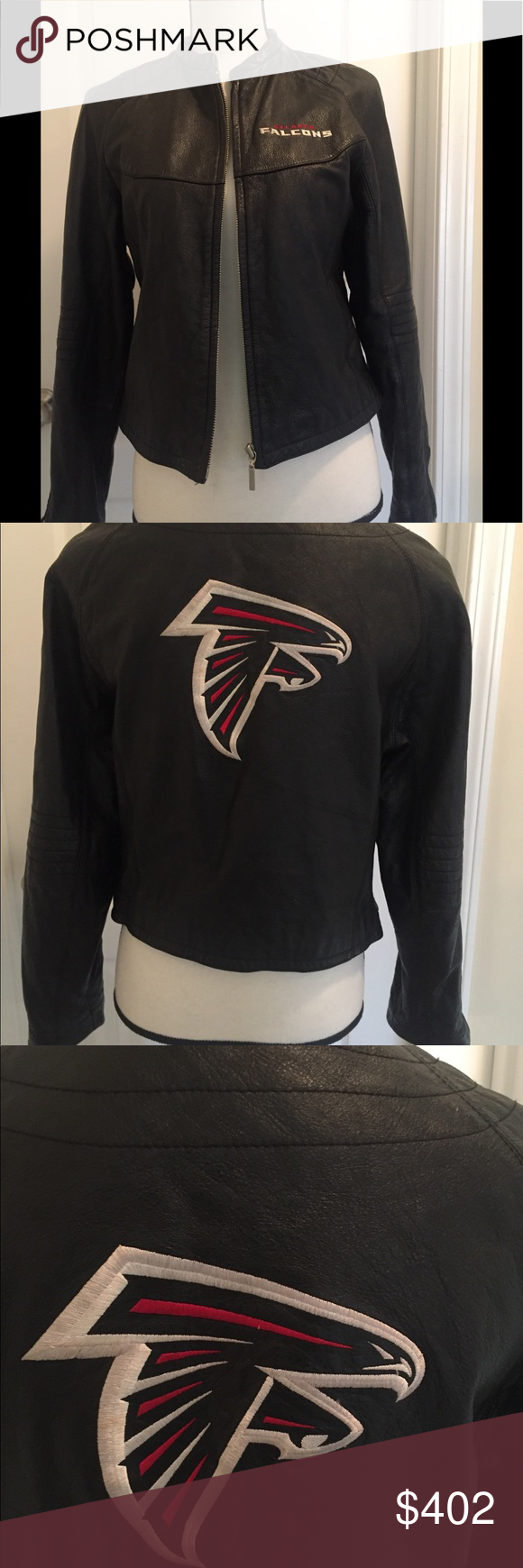 Falcons Nfl Vtg Genuine Leather Reebok Jacket Euc Vintage Leather Jacket Jackets Clothes Design [ 1740 x 580 Pixel ]