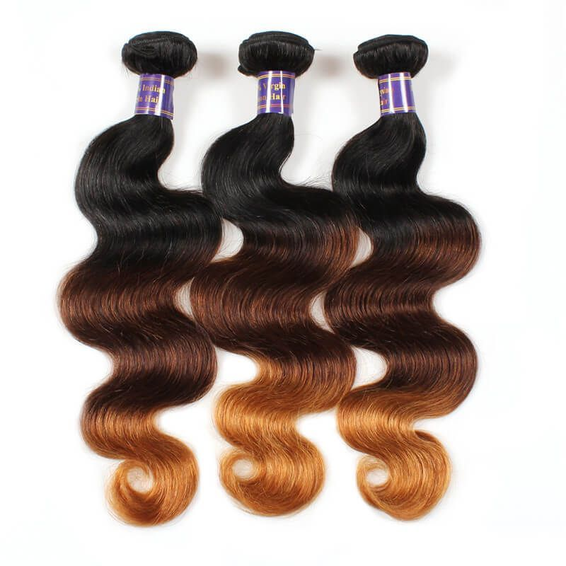 Mink Ombre Hair Colored Hair Extensions Peruvian Body Wave Human