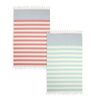 This Super Chic Cabana Stripe Turkish Cotton Beach Towel Is A