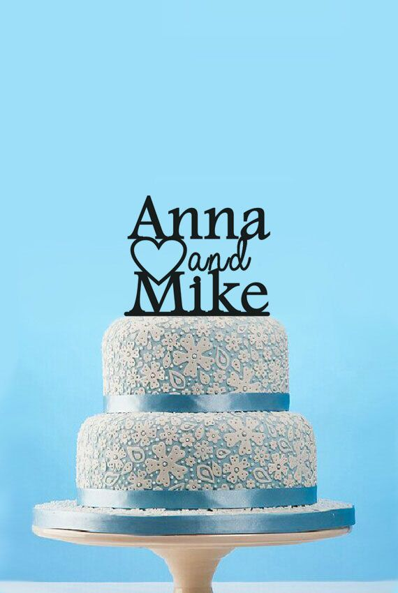 Wedding Couple Name Cake Topper Custom TopperWedding TopperPersonalized Monogram TopperUnique
