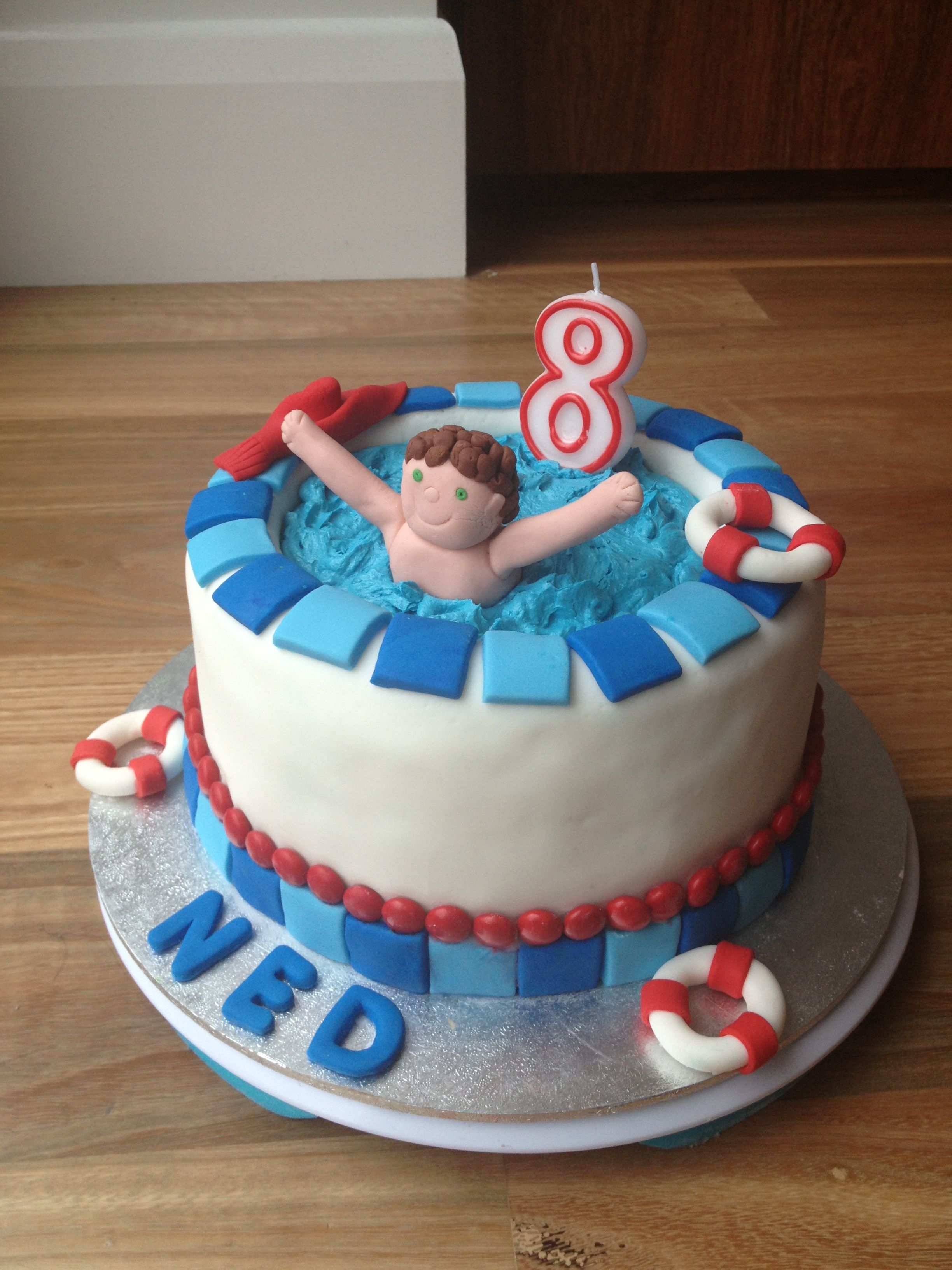 Kuchen Party Swimming Pool Cake Ned 39s Party Cake Ideas Pool Cake