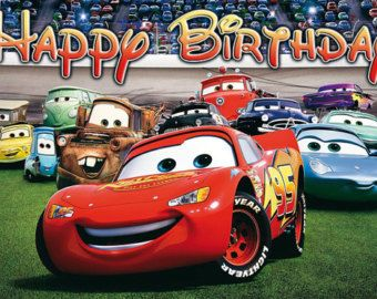 CARS Birthday Banner Disney Cars Banner Instant by CutePartyFairy