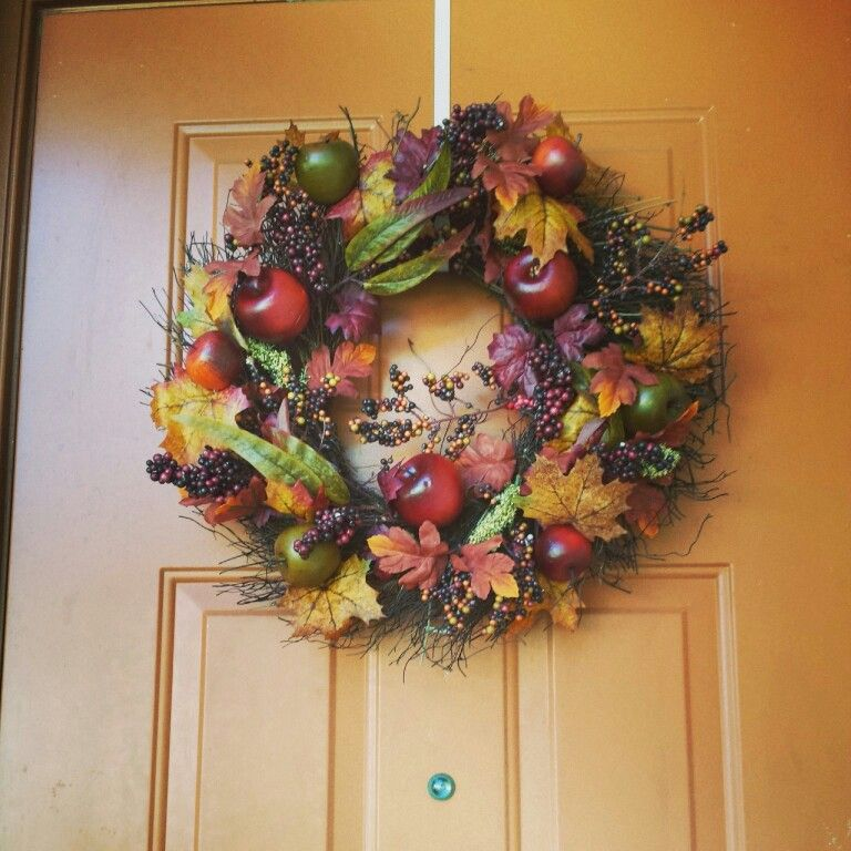 Love My New Fall Wreath From Homegoods