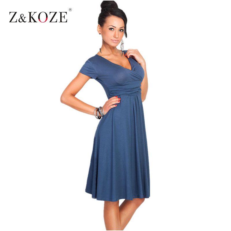 Erichikz 새로운 가을 여성 캐주얼 파티 드레스 v 넥 짧은 소매 무릎 길이 면 드레이프 고체 느슨한 vestidos 레이디