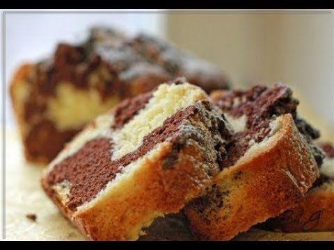мраморный кекс из манки