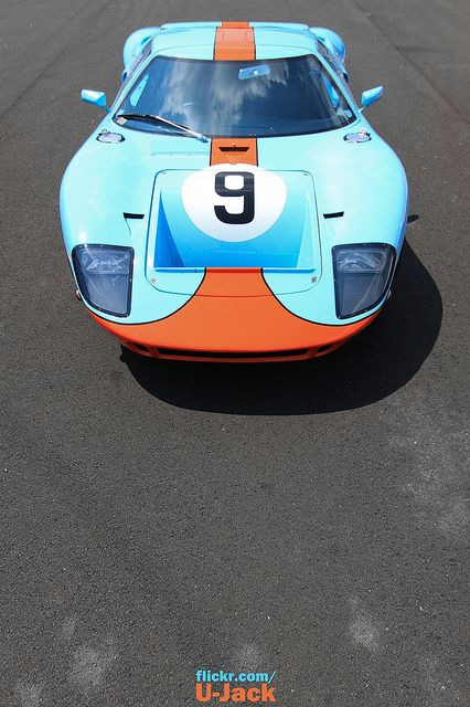 Gulf Number 9 Gulf Racing Old Sports Cars Ford Gt40