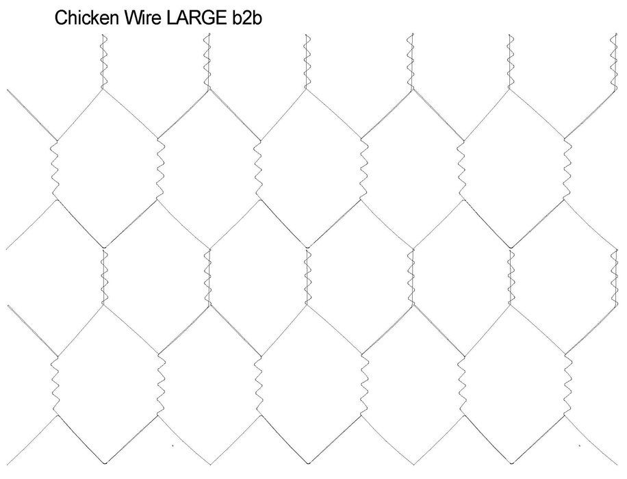 Chicken Wire 0015 Per Square Inch Geometric Longarm Quilting