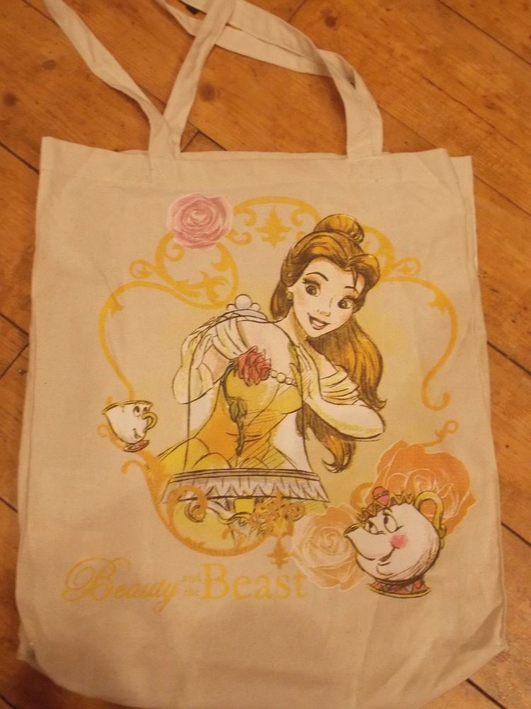 Details about disney beauty the beast belle canvas tote