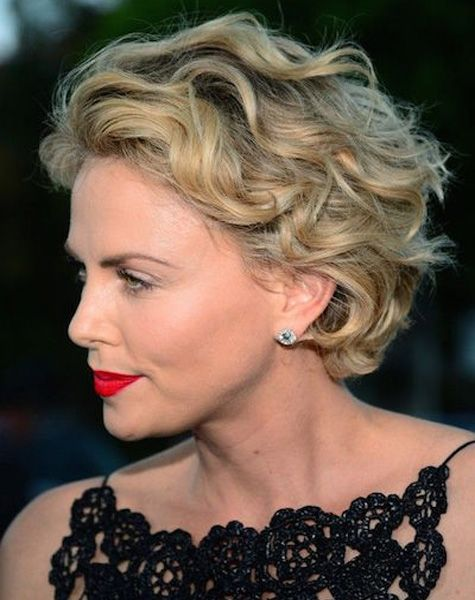 short wind blown curly hairstyles