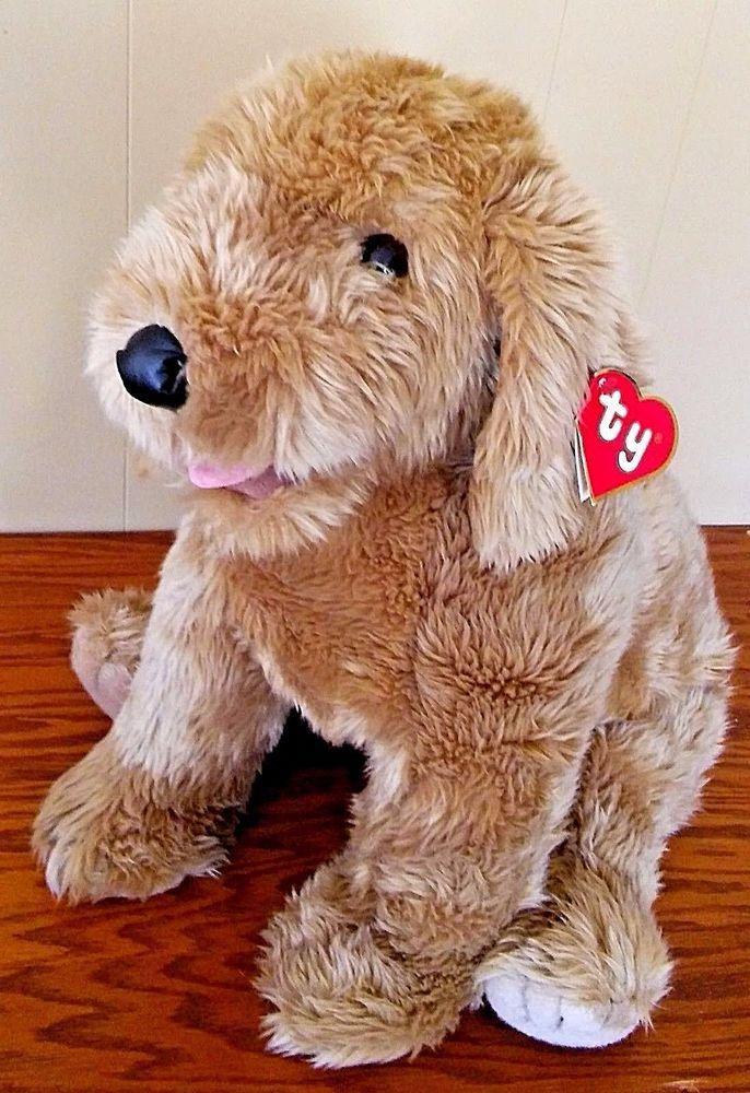 Super Scruffy Ty Classic 1990 Stuffed Plush Dog 9011 Golden 32 Retired Rare Tag Tyclassic Plush Dog Plush Stuffed Animals Plush