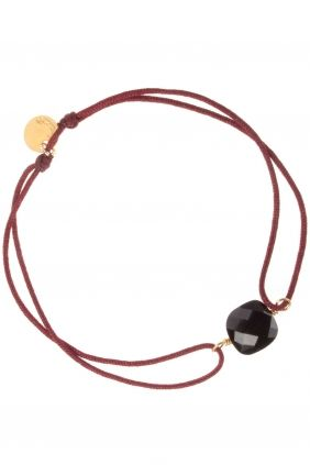 #red cord #bracelet with onyx I designed by senzou I NEWONE-SHOP.COM