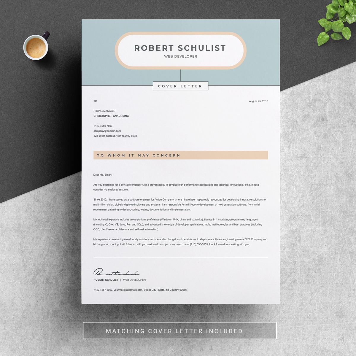 Robert Schulist Resume Template | Social Media Graphics ...