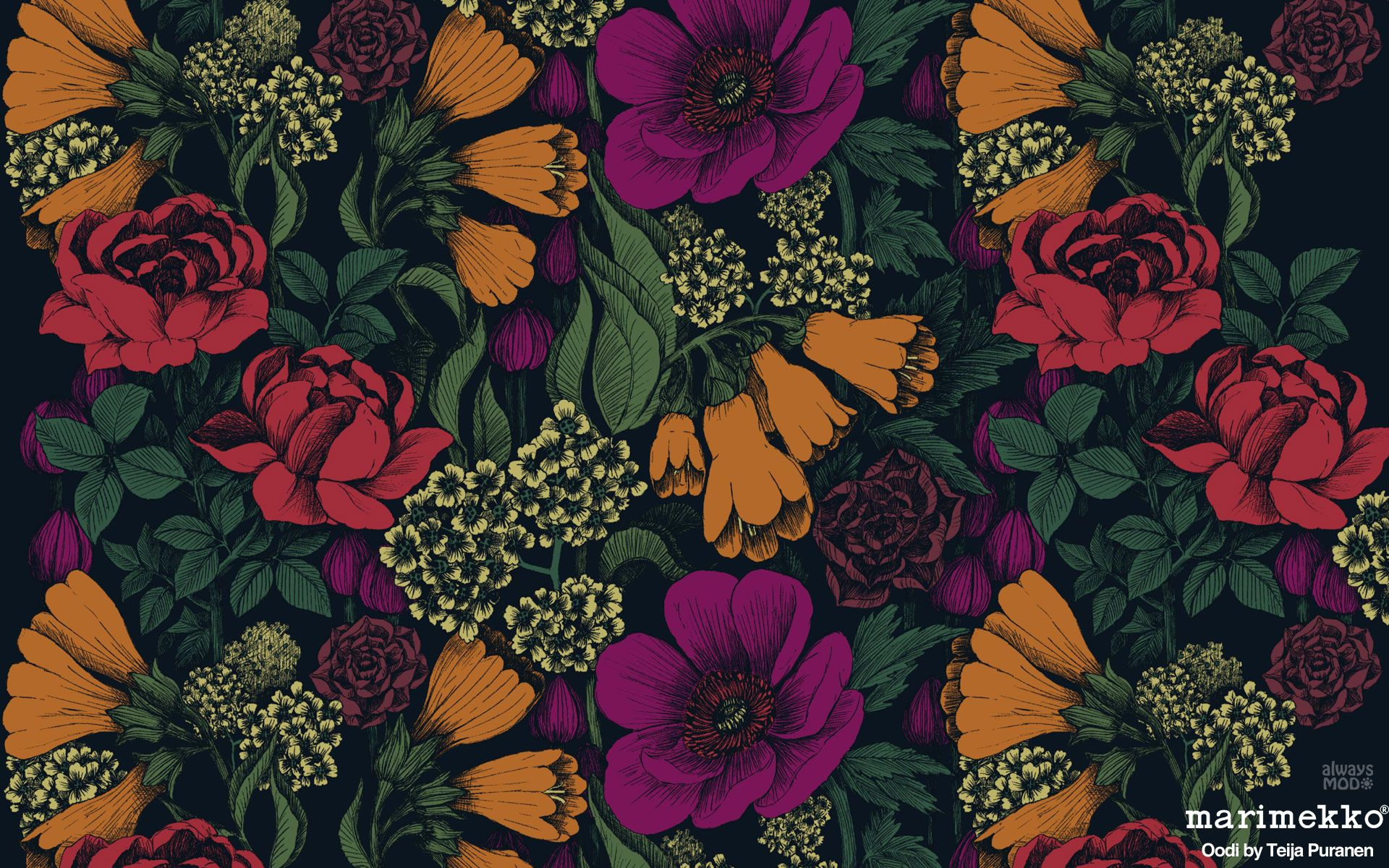 Pinterest Computer Wallpaper Marimekko Wallpaper Floral Pattern