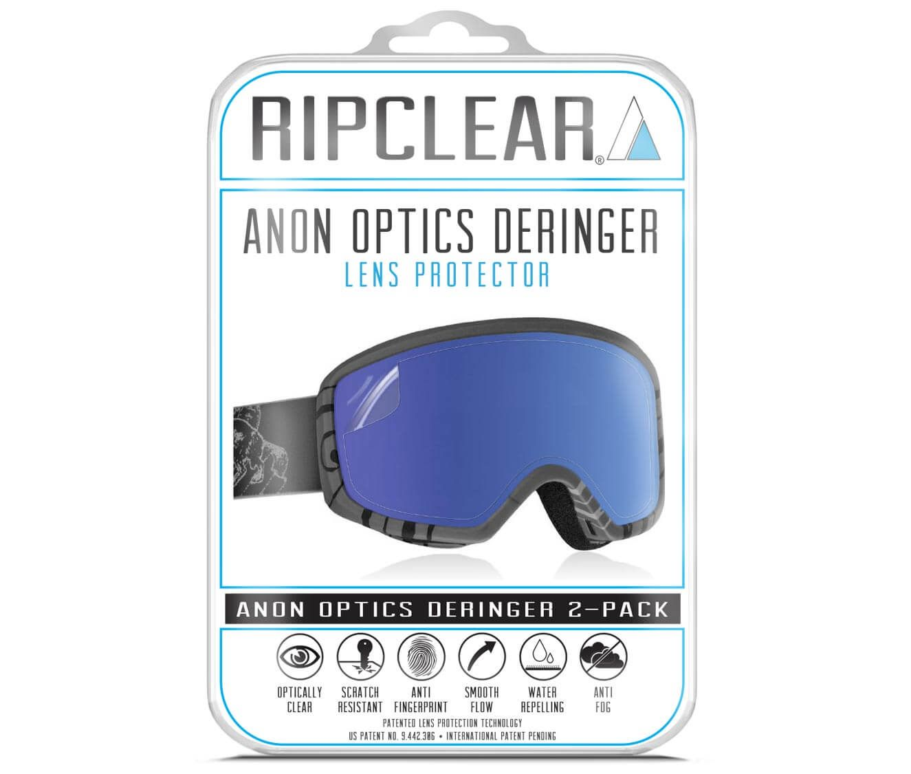 With Microfiber and Dust Remover 2-Pack Ripclear Dragon Goggle Lens Protector