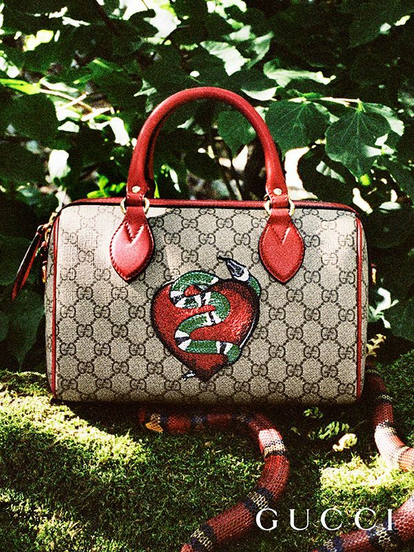 8df781f396374f Presenting gifts from the Gucci Garden. A limited edition GG motif top  handle bag, featuring a heart and snake by Alessandro Michele.  #guccibagyoutube