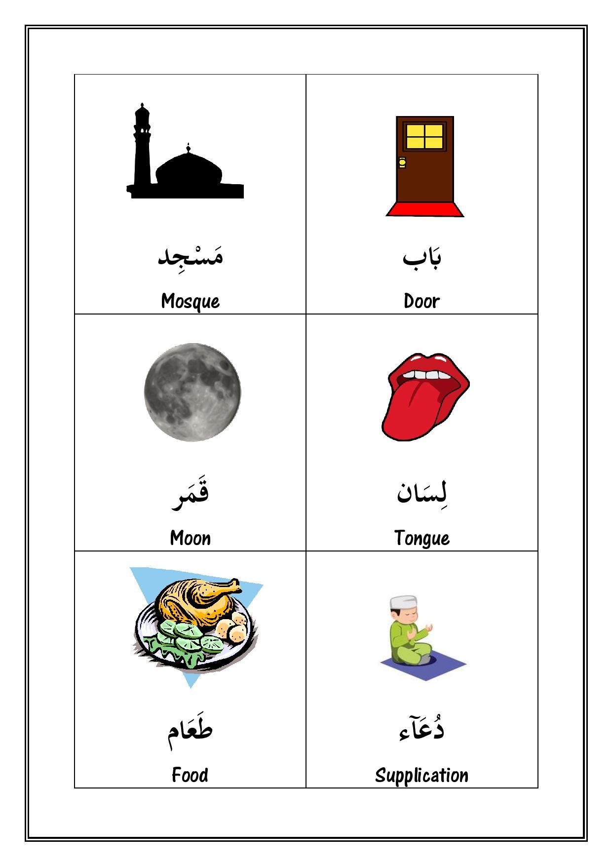 Illustrated Nouns From The Qur An Free At