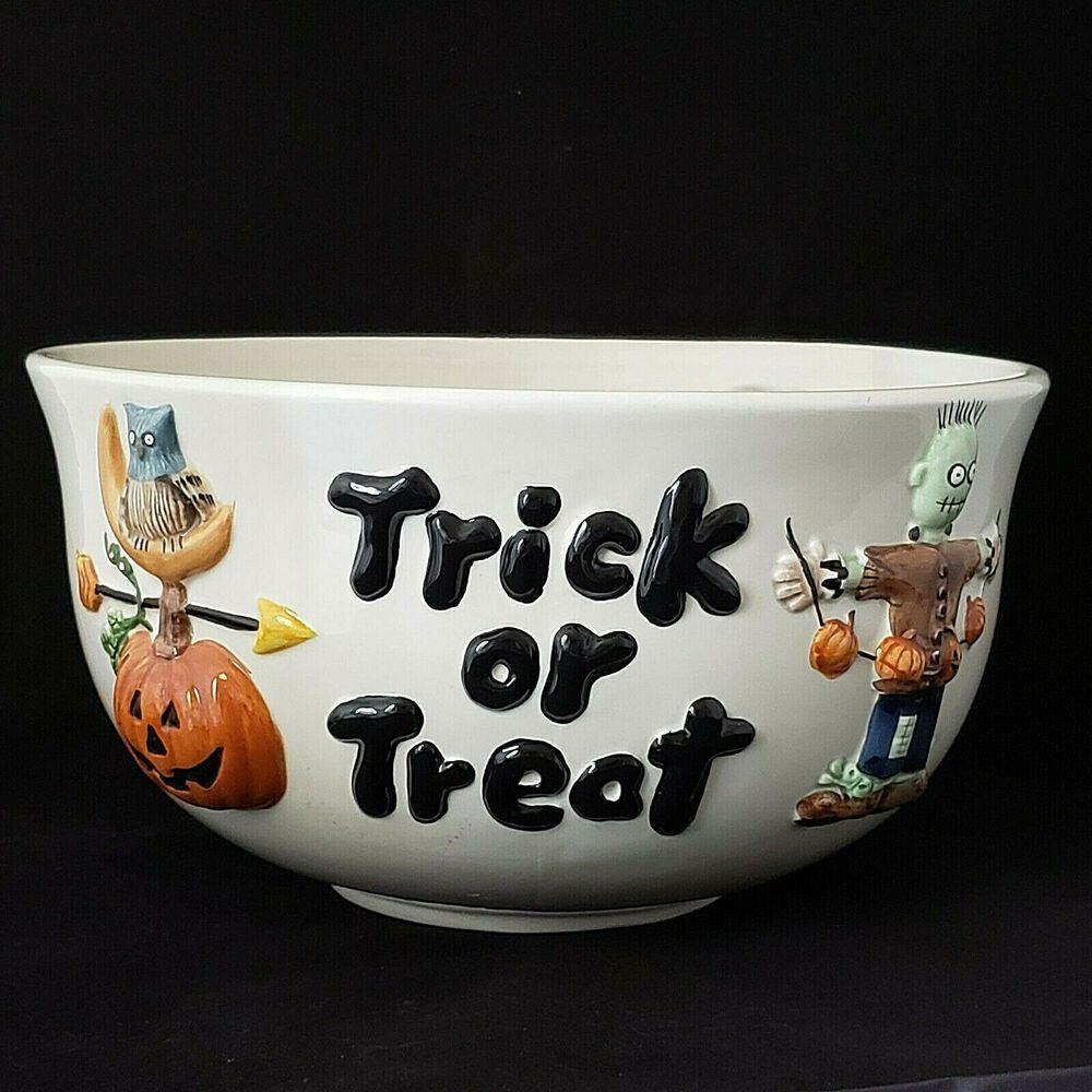 Sakura Debbie Mumm Halloween Trick Or Treat Bowl 1998