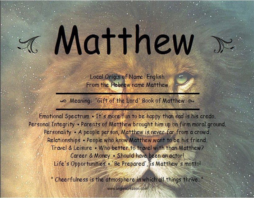 Meaning of the name matthew gift of the lord names their meaning of the name matthew gift of the lord negle Image collections