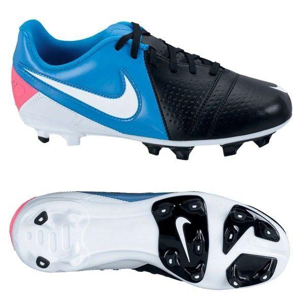 Nike Jr CTR360 Libretto III FG Youth Girls Soccer Cleats Sz 5.5Y Black/Blue