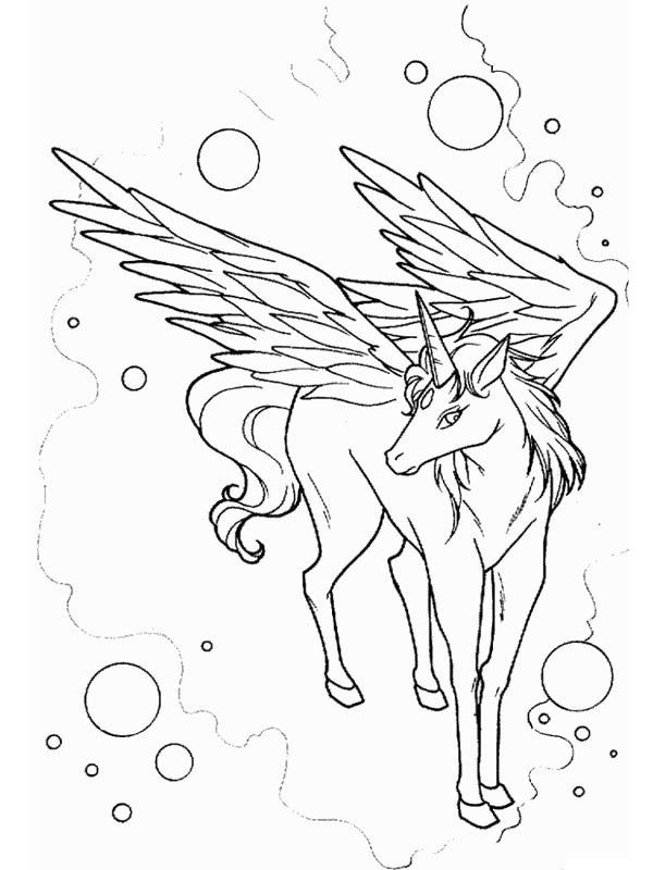 Awesome Drawing Of Pegasus Coloring Page Desenhos
