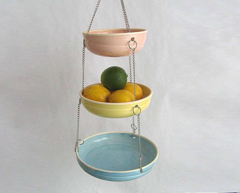 Hanging Fruit Basket - Set of 3 - Candy Colors